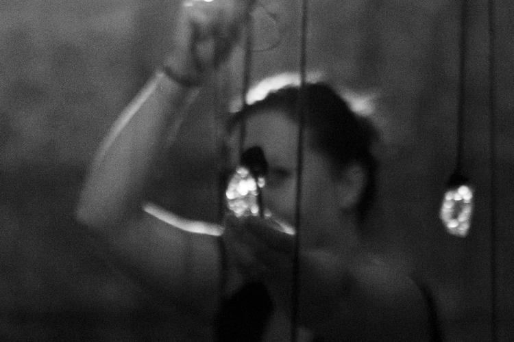 Portrait retrato Olga Simón by Pierluigi Fabrizio,   tears lágrimas Tear / Lágrima, 2015 Olga Simón, installation, instalación, exhibition , exposición, Stills of peace, Atri, Italy, italia, art, arte,
